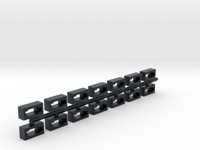 NEM 357 standard coupler adapter for older trains in Black Hi-Def Acrylate