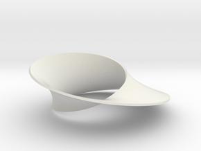 Mobius strip minimal surface in White Premium Versatile Plastic: Small