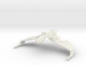 Klingon N''Thak Class  BattleCruiser in White Natural Versatile Plastic