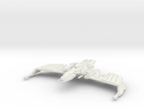 Klingon N''Thak Class BattleCruiser wings straight in White Natural Versatile Plastic