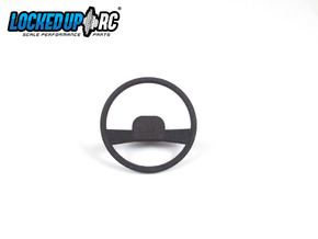 1:10 RC Truck Steering wheel 3 in Black Natural Versatile Plastic
