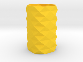 Pencil Holder in Yellow Processed Versatile Plastic