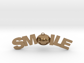 Smile necklace in Natural Brass
