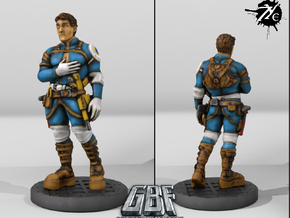 Male Engineer w Repeater (Terran -GBF) in Smoothest Fine Detail Plastic: 28mm
