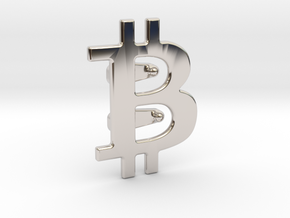 Bitcoin Tie Clip in Rhodium Plated Brass