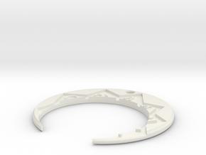Golden_Cities_Medal_Moon in White Premium Versatile Plastic