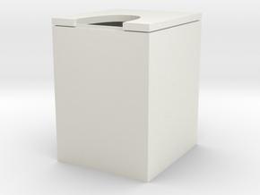 trash can in White Natural Versatile Plastic: Medium