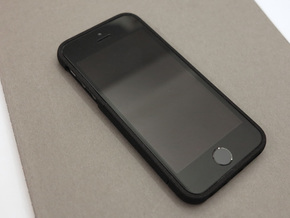 slim case for iPhone 5/5s - Bottom in Black Natural Versatile Plastic