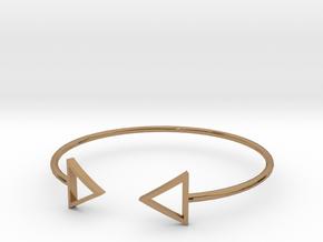 Arrow Around Bracelet S-L in Polished Brass: Small
