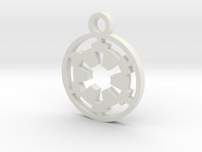 Galactic Empire Charm in White Natural Versatile Plastic