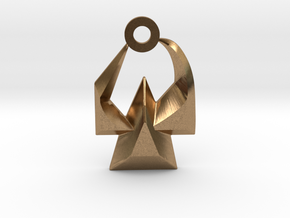 House of Martok Charm in Natural Brass: Small