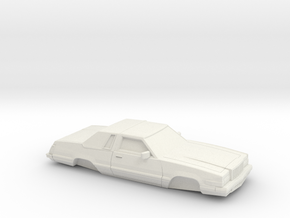1/32 1980 Ford Thunderbird in White Natural Versatile Plastic