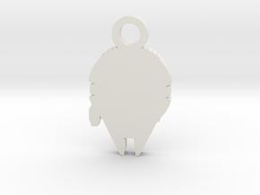 Millennium Falcon Silhouette Charm in White Natural Versatile Plastic