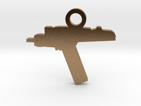 Phaser Silhouette Charm in Natural Brass