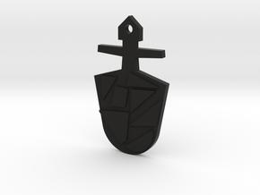The Eighth Doctor's TARDIS Key in Black Premium Versatile Plastic: Medium