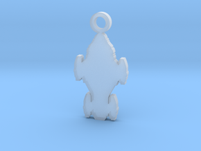 Raza Silhouette Charm in Smooth Fine Detail Plastic