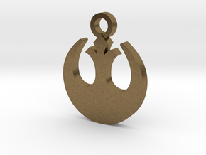 Rebel Forces Charm in Natural Bronze