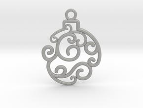 Holiday Swirl Ornament in Aluminum
