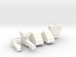 Warbot Command and Control Node in White Processed Versatile Plastic