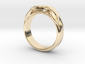 DESIGNER RING 5 in 14k Gold Plated Brass: 7 / 54