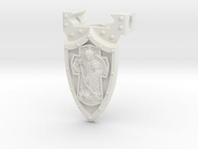 Handstop_Cross_Shield in White Natural Versatile Plastic
