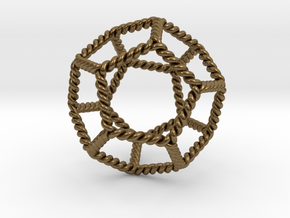 "Twisted Dodecahedron 2+"" LH in Natural Bronze"