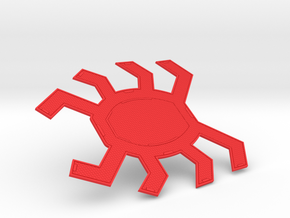 Homecoming Red Back Spider Symbol for Costume in Red Strong & Flexible Polished: Small