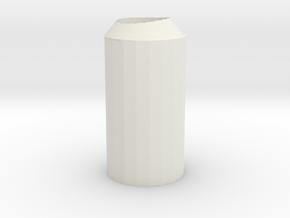Exhaust Water Bottle in White Natural Versatile Plastic
