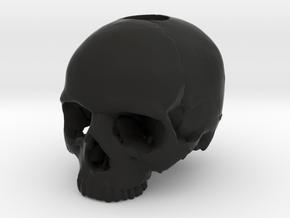 Skull in Black Premium Versatile Plastic