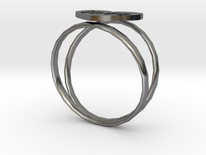 love ring in Fine Detail Polished Silver