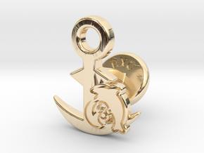 Cufflinks - Let's Hug! in 14k Gold Plated Brass