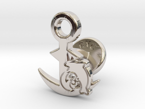 Cufflinks - Let's Hug! in Rhodium Plated Brass