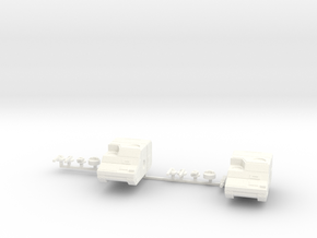 Two Marauder Tank in White Processed Versatile Plastic