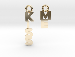 """""""Kiss me"""" - A special message for a special date in 14K Yellow Gold"""