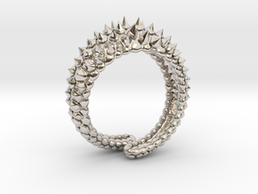 Reptile Ring in Rhodium Plated Brass