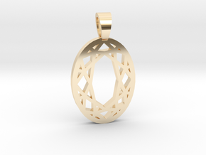 Oval cut [pendant] in 14k Gold Plated Brass