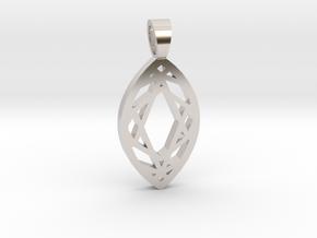 Marquise cut [pendant] in Platinum
