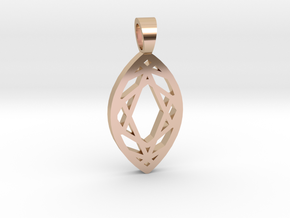 Marquise cut [pendant] in 14k Rose Gold Plated Brass