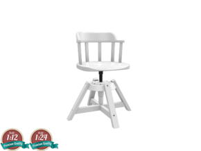 Miniature Feodor Chair - IKEA in White Natural Versatile Plastic: 1:24