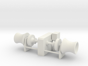 Anchor Winch 1/72 fits Harbor Tug in White Natural Versatile Plastic