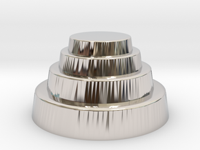 DRAW geo - terraced dome in Platinum: Small