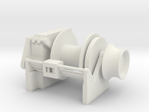 Tug Winch 1/72 fits Harbor Tug in White Natural Versatile Plastic