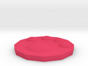 Palm cup coasters in Pink Processed Versatile Plastic