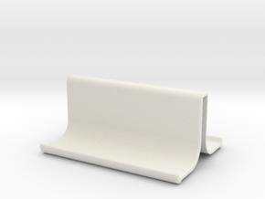Mobile phone holder in White Natural Versatile Plastic
