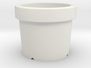 Small pots in White Strong & Flexible