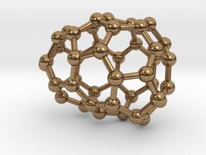 0636 Fullerene c44-8 c1 in Natural Brass
