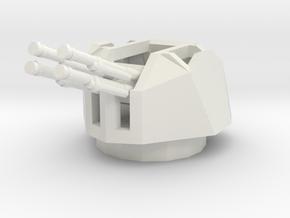 1/72 Semovente M15/42 Contraereo turret in White Natural Versatile Plastic