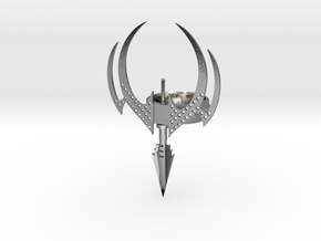 gothic vampire needle ring  in Polished Silver: Extra Small