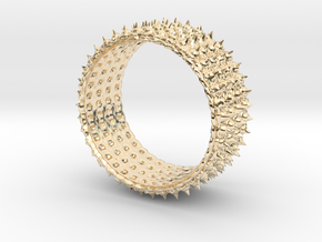 crazy spickes ring in 14K Yellow Gold: Extra Small