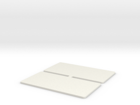 GBS Touring Car Wing Endplates in White Natural Versatile Plastic